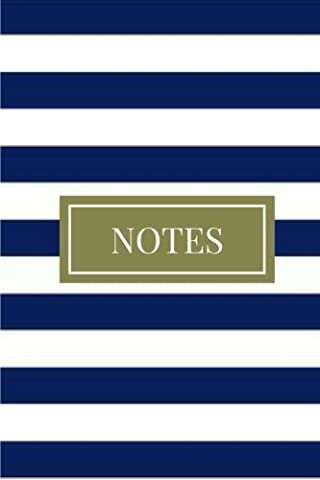 Notes: (6 x 9) Blue and White Stripes, Primary Writing