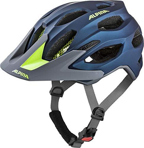 Alpina Unisex- Erwachsene CARAPAX 2.0 Fahrradhelm, darkblue-neon, 52-57 cm