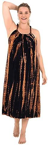 La Leela Rayon bestickt tie dye Kaftan beiläufigen Kleides der Strandbadebekleidung schwarze Frauen verschleiern
