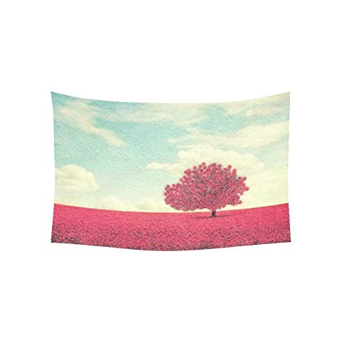 daawqee Landscape Wall Art Beautiful Tree in a Pretty Field Tapestry Wall Hanging Art Sets 60 X 50 Inches Unique Home Decor