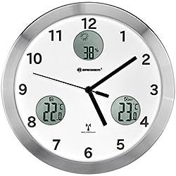 BRESSER Orologio da Parete MyTime io 30 cm, Bianco