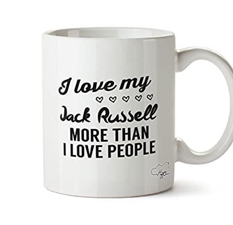 Hippowarehouse I Love My Jack Russel Plus de I Love personnes 283,5 gram Mug Cup, Céramique, blanc, One Size (10oz)