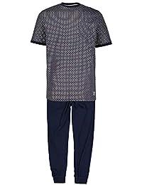 dunkelblau Herren Pyjama Sweat Hose lang Schlafhose Ammann