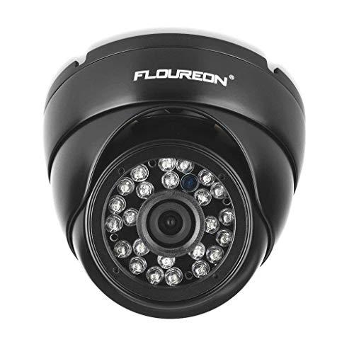 floureon Caméra de Sécurité Extérieure CCTV, Caméra de Surveillance Étanche 1080p 2.0mp Caméra Dôme 3000TVL Extérieure Vision Nocturne Système de Sécurité CCTV Compatible avec DVR AHD P2P