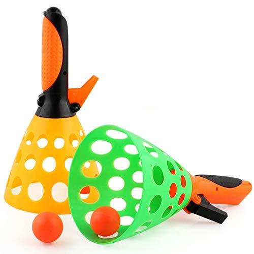 Kongqiabona Spielzeug Ball 1 Satz Eltern-Kind-katapult Tischtennis Launch Ball Perfekte Spielzeug Für Kinder Outdoor Interaktive Gummibälle Ping Pong Ball Spielzeug