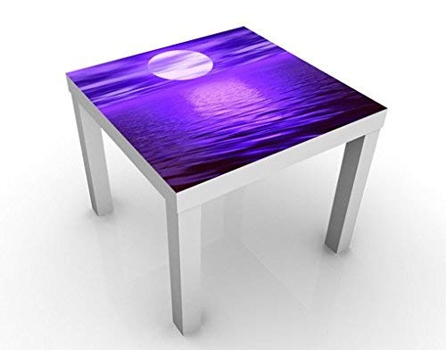Apalis 46259-276864 Design Table Full Moon, 55 x 55 x 45 cm, Bleu, 45x55