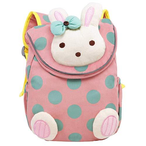 NORSENS Baumwolle Baby Rucksack Kinder Backpack mit Sicherheitsleinen für Kindergarten Kleinkinder-Pink