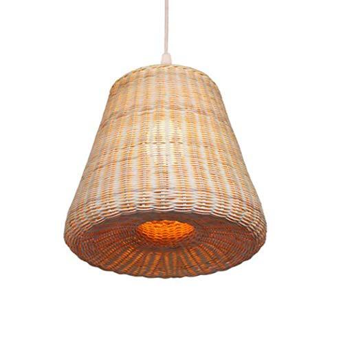 Gjx lampada a sospensione antica, creative pastorale rattan tatami lampade a sospensione, camera da letto ristorante decorazione della casa lampada a sospensione, e27