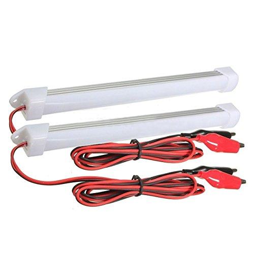 Streifen Licht - TOOGOO(R)2 x 12V Auto LED SMD Innenlichtleiste Rohr Streifen Lampe Van Boot Caravan Wohnmobil Kaltes Weiss (Aluminium-trailer-schrank)