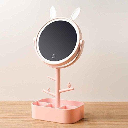 Miroirs de Maquillage de LED avec la Lampe de Stockage de Bureau Livre de