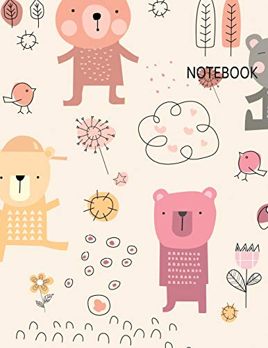 Notebook: Cute Bear Notebook (8.5 x 11 Inches) -110 Pages -