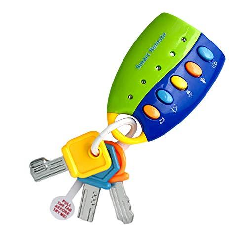 RIsxffp Buntes Spielzeug für Babys, mit Fernbedienung, Musik, Auto, Schlüsselanhänger, Pretender blau