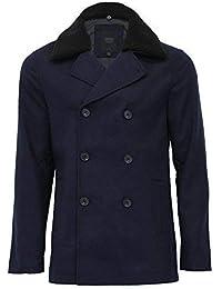 8c623893d077a hommes veste mélange laine Threadbare VESTE croisé DRAP POLAIRE SHERPA col  doublé