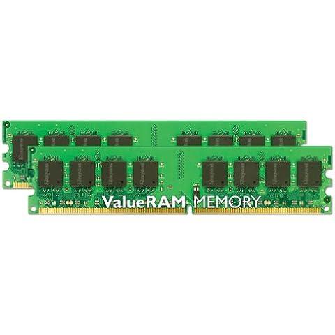 Kingston Technology ValueRAM 4GB 667MHz DDR2 Non-ECC CL5 DIMM (Kit of 2) - Memoria (DDR2, 256M X 64, 240-pin DIMM, 2 x 2 GB, DDR2, 240-pin