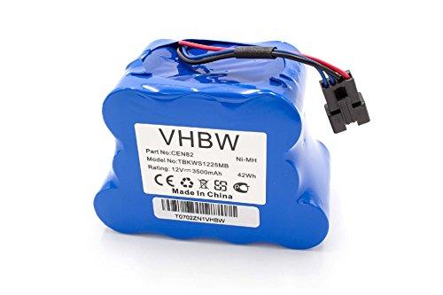 vhbw NiMH Akku 3500mAh (12V) für Saugroboter Home Cleaner Heimroboter Ecovacs Deebot 800, 810, 830,...