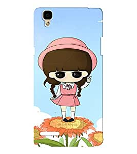 EPICCASE Flower and Girl Mobile Back Case Cover For Oppo F1 (Designer Case)