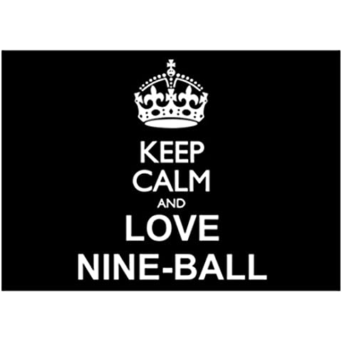 Teeburon Keep calm and love Nine Ball Sticker Pacchetto di (Nine Ball)