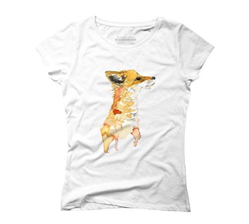 Little fox Women's Graphic T-Shirt - Design By Humans White