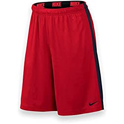 Nike Fly Short 2.0 - Pantalón corto para hombre, color rojo / negro (university red/obsidian/black), talla M