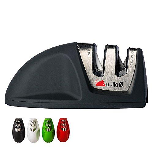 MOUSE Kompakter Messerschärfer von Uulki® – Passt in jede Schublade (Schwarz)