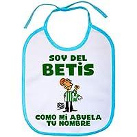 Babero soy del Betis como mi abuela personalizable con nombre