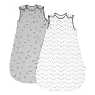 Saquito de dormir para bebé de Mamas & Papas (de 0a 6meses, 2,5tog, color gris, lote de 2)