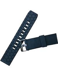 Nuevo Negro Caucho de silicona impermeable buceadores Correa para reloj barras de resorte de banda 22mm