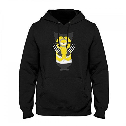 Fashionalarm Herren Kapuzen Pullover - Wolve-Rine Min. Parodie | Fun Hoodie als Geschenk Idee für Superhelden Film Fans, Farbe:schwarz;Größe:4XL (Wolverine Kostüm Hoodie)