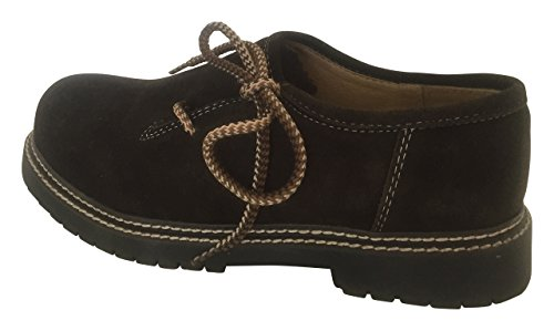 Trachtenschuhe Schuhe Herren Haferl 41 ECHT LEDER VELOUR Braun