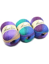 Dabixx Soft Worsted Yarn Rainbow Gradient Colors DIY Baby Knitting Wool Shawl Scarf Crochet Thread Supplies
