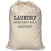 Borsa lavaggio a secco Fold Repeat 100% Naturale cotone Home Storage organizzazione lavaggio cesto, Large 60 cm x 76 cm
