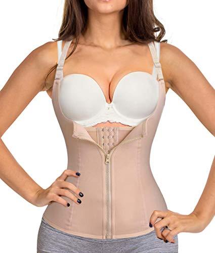 Chumian donna corsetto vita dimagrante body modellante cintura intimo shaper training vestiti shapewear contenitivo snellente (beige, x-large)