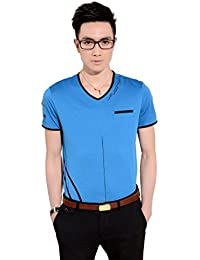 SSLR Men's Summer V Neck Short Sleeve T Shirt