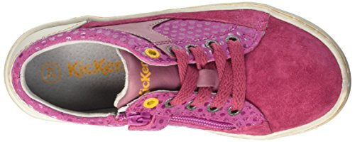 Kickers Lylian Mädchen Sneaker Pink - Rose (Fuchsia Imprimé Pois)