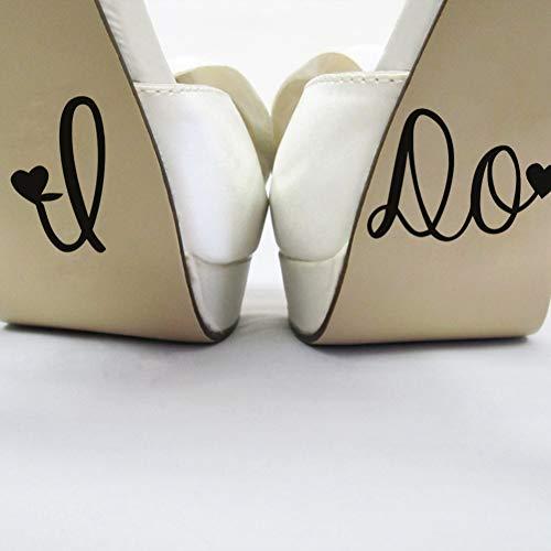 LELTWS Ich Tun Hochzeitsdekor Aufkleber Schuh Tasse Aufkleber Hochzeit Dekoration