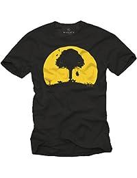 T-Shirts mit lustigem Aufdruck KINDER SCHAUKEL ABFLUG schwarz Herren S-XXXL