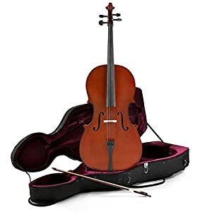 4/4 Size Cello with Case by Gear4music
