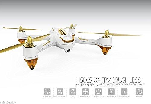Hubsan X4h501s weiß Farbe rc Quadcopter 1080P HD Kamera GPS FPV 5,8g Unlock GPS (Rc-sender-modul)