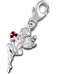 SL de Silver Charm Beat colgante ángel Corazón Plata de ley 925