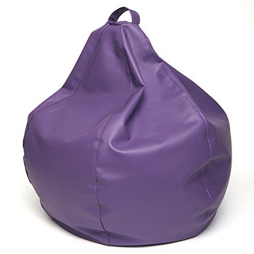 Jarrous Puff pera Modelo Colonial, Color Violeta, Medida 90x90x70cm