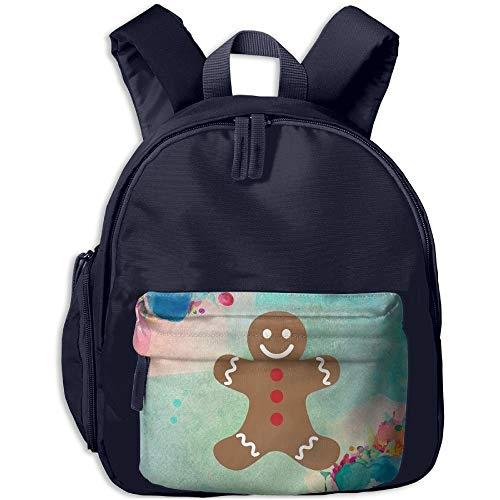 DFIDAS Rucksack Schultasche Gingerbread Man Merry Christmas Students Book Bag Children Schoolbags Backpacks for Teens Boys Girls -