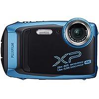 Fujifilm FinePix XP140 Fotocamera Digitale, Impermeabile 25 m, CMOS 16MP, Zoom Ottico 5x, Stabilizzatore Meccanico, Batteria al Litio, Wi-Fi, Bluetooth, Sky Blue/Blu