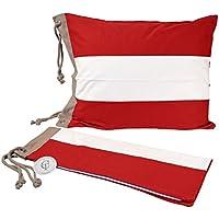 Classic Textiles Of Sweden Kissenbezug Saltö, Farbe:rot/weiß