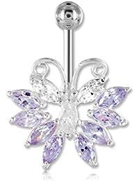 Bananabell Double jeweled oro de colores piercing cristal ombligo ombligo Banana