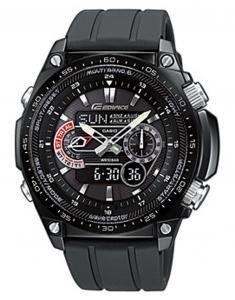 Reloj de caballero CASIO Edifice ECW-M300E-1AER de cuarzo, correa de resina color negro (con radio, cronómetro, luz) de Casio