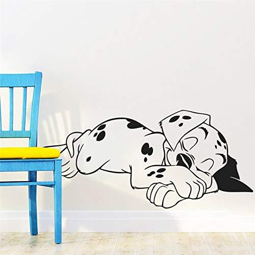 Qtydmdh Schlafzimmer Wandaufkleber, Süßer Traum, Dalmatinischer Hund, Hundewelpe, Wandtattoo, Wandbild, Poster, Kind, Kindergarten, Kind, Schlafzimmer, Dekoration