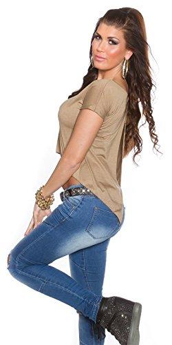 In-Stylefashion - Pull - Femme Beige Beige Taille unique Marron - Cappuccino