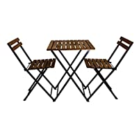 Pratico, Bistro set of table & 2 chairs , Wooden, M5-BISTRO