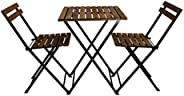 Pratico, Bistro set of table & 2 chairs , Wooden, M5-BI
