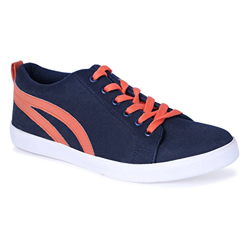 CF_Better Deals Navy Color Sneaker Shoes For Men, Men Leather Shoe, Lace Up Men Sneaker, Shoe For Men, Casual...